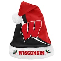 Forever Collectibles NCAA Wisconsin Badgers Polyester Swoop Santa Hat