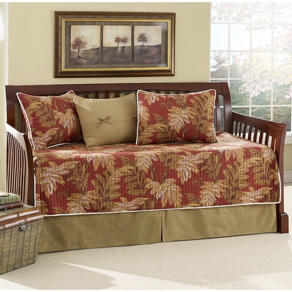 Tommy Bahama Orange Cay Quilted 5 Piece Daybed Set
