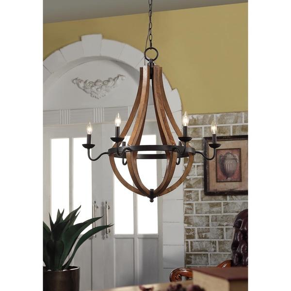 Vineyard Oil Rubbed Bronze 6 Light Chandelier