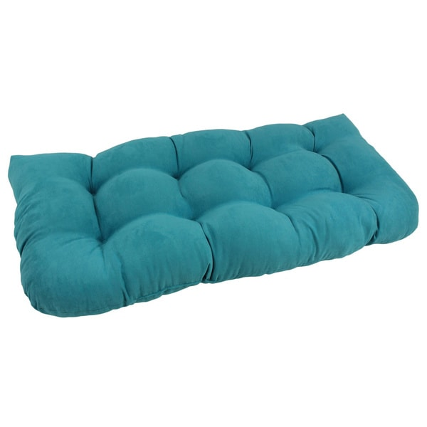 Blazing Needles Tropical U Shaped Tufted Microsuede Settee