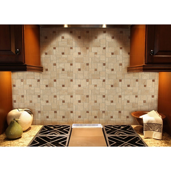 Instant Mosaic Stone Peel And Stick Tile 15846012