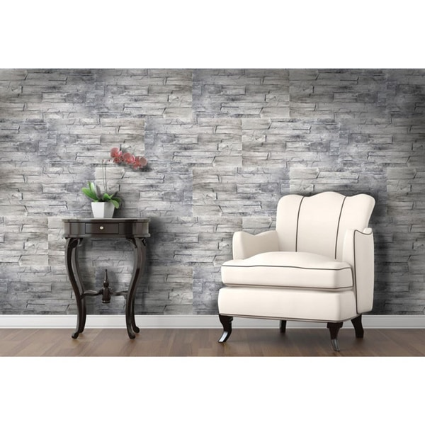 Instant Stone 12x10 Grey 1 Inch Peel And Stick Faux Stone