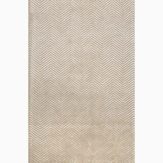 Hand Made Tribal Pattern Gray Wool Rug 3 6x5 6