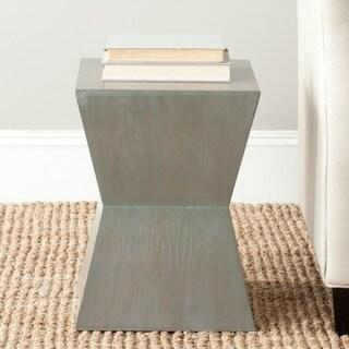 Inspire Q Hatteras Modern Geometric Woodblock End Table