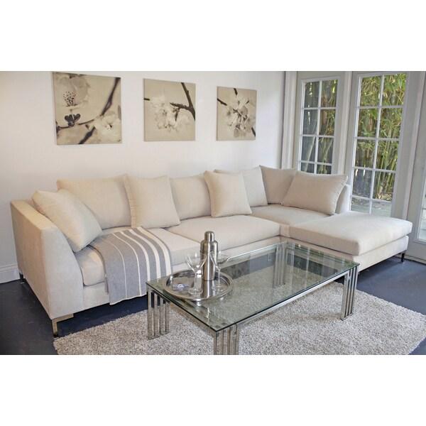Decenni Custom Furniture Divina Bone 9 5 Foot Modern