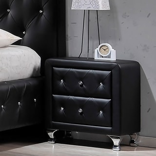 Baxton Studio Erin Contemporary Black Faux Leather