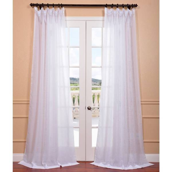 Exclusive Fabrics Signature White Double Layer Sheer