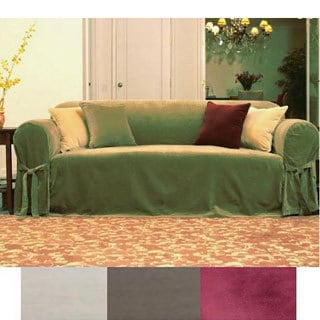 Velvet Sofa Slipcover Our Statement Sofa Comfortworks