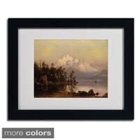 Albert Bierstadt 'Mountain Canoeing' Framed Matted Art