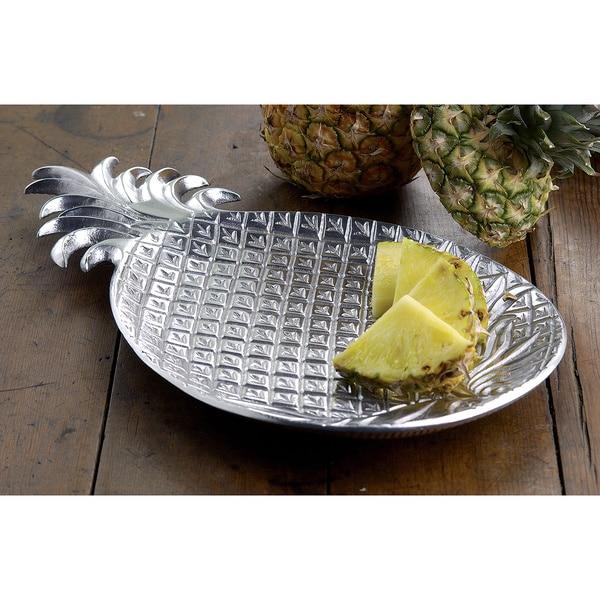 17 Inch Aluminum Pineapple Tray 15857832 Overstock Com
