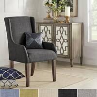 Jourdan Linen Sloped Arm Hostess Chair by iNSPIRE Q Bold