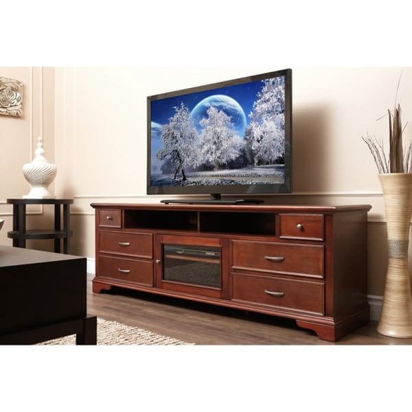 Abbyson Living Montgomery Walnut Wood 72 Inch Tv Console
