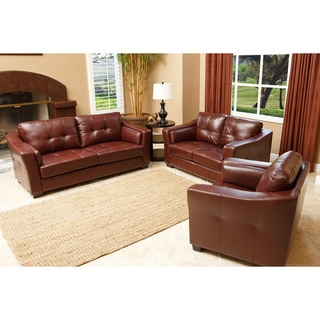 Abbyson Living Torrance Premium Leather 3 Piece Living