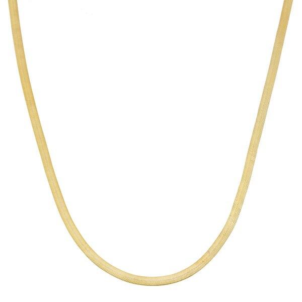 16 Inch Gold Herringbone Necklace: Fremada 10k Yellow Gold 1.9-mm Herringbone Necklace (18-20