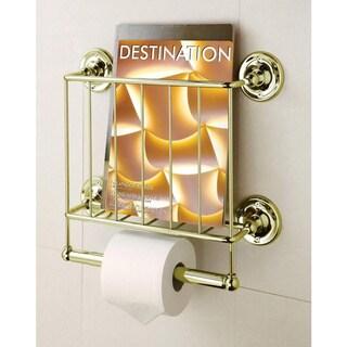 Sale Estate 13k Gold Finish Magazine Rack Toilet Paper