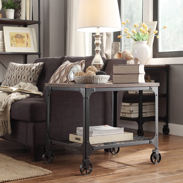 TRIBECCA HOME Nelson Rectangle Industrial Modern Rustic