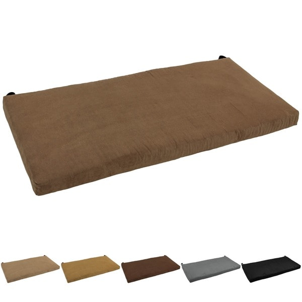Microsuede Settee Bench Cushion 15867374 Overstock Com