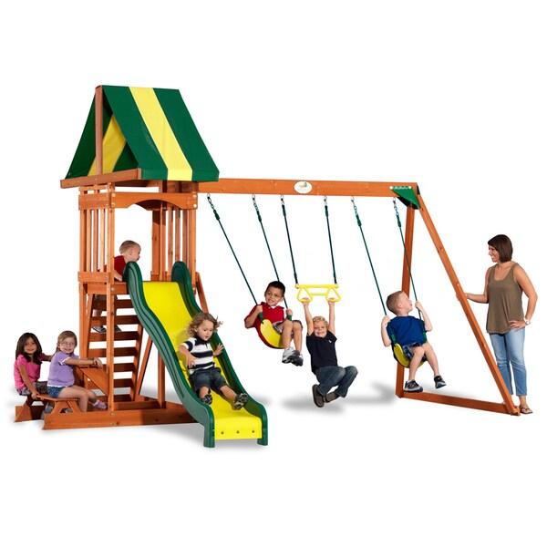 Backyard Discovery Prestige Wooden Swingset - 15867842 ...
