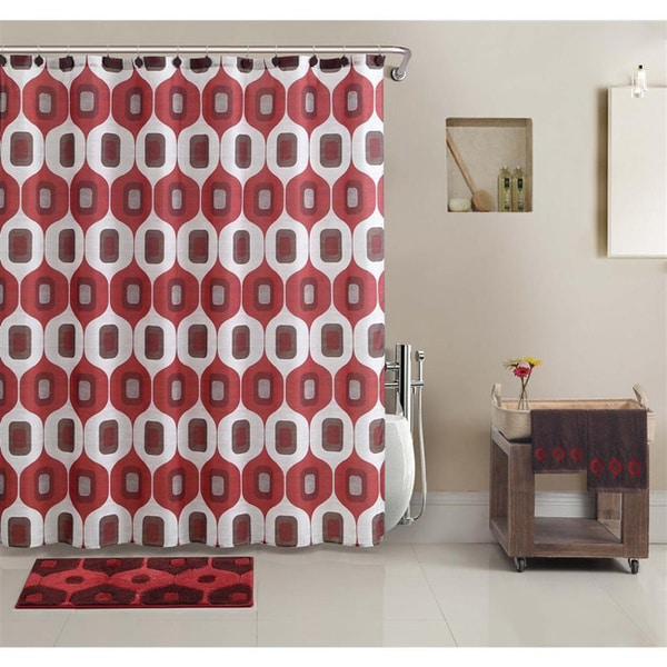 Bathroom Set In A Bag: VCNY Tiberius Shower Curtain And Bath Accessory 17-piece
