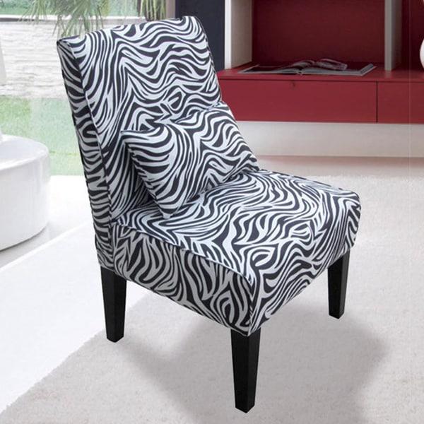 Bella Zebra Accent Chair 15869949 Overstock Com