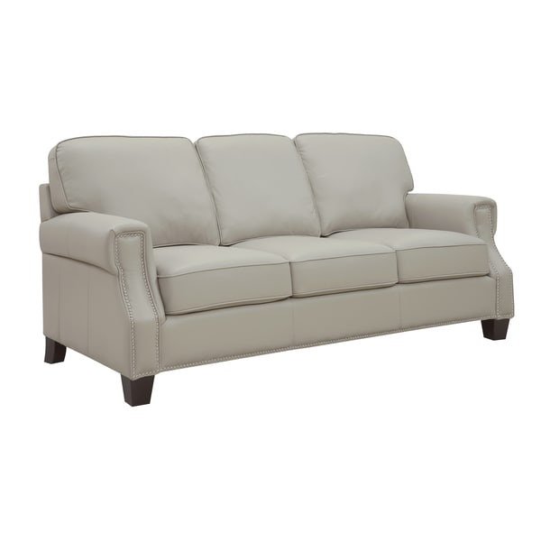 At Home Designs Uptown Bone Leather Sofa