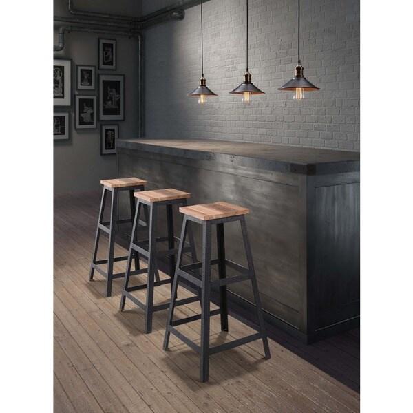 Cora Distressed Natural Bar Stool 15871724 Overstock