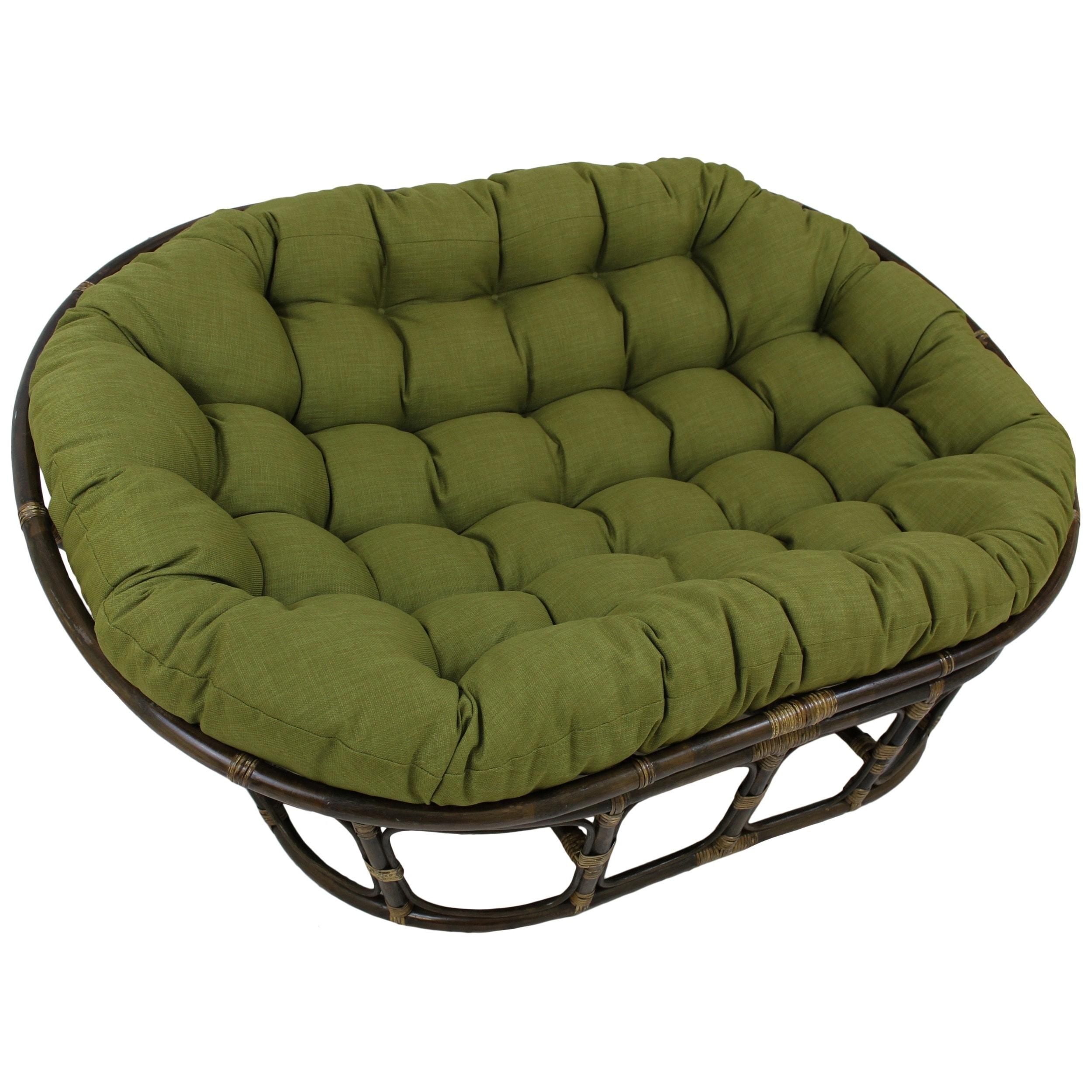 blazing needles indoor outdoor double papasan cushion 48 x 65 ebay. Black Bedroom Furniture Sets. Home Design Ideas