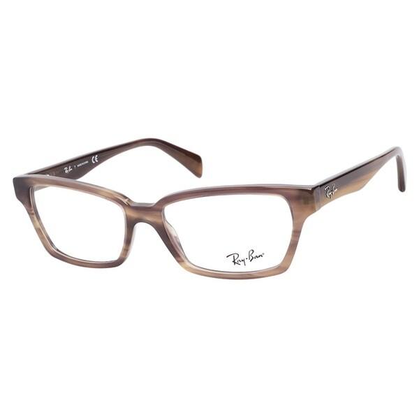 26f4ab3215f84 Ray Ban RB5280 5135 Opal Brown Horn Prescription Eyeglasses Ray Ban  Prescription Glasses
