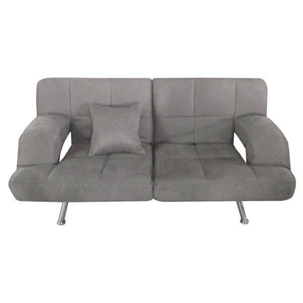 Sofa Bed Deals: Grey Microsuede Sofa Bed