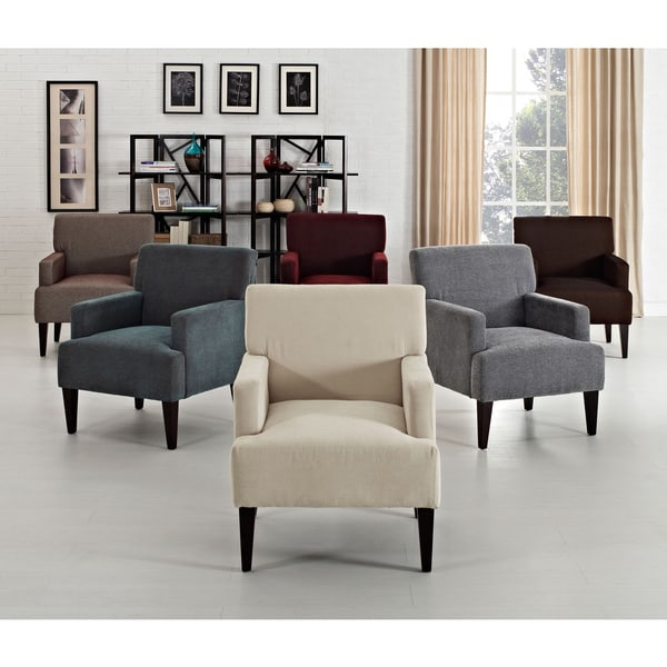 Tux Solid Accent Chair 15881685 Overstock Com Shopping