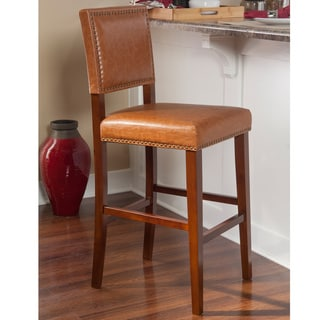 Christopher Knight Home Hazelnut Bonded Leather Barstool