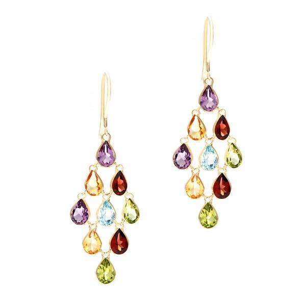 Light Blue Brown Yellow Earrings Gemstones Beaded Neutral ... |Light Yellow Gemstone Earrings