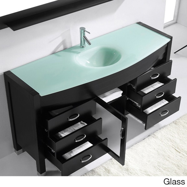 Virtu USA Ava 61-inch Espresso Single Sink Vanity ...