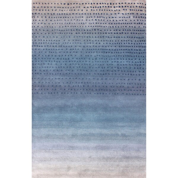 Nuloom Handmade Ombre Blue Wool Rug 7 6 X 9 6 15884572