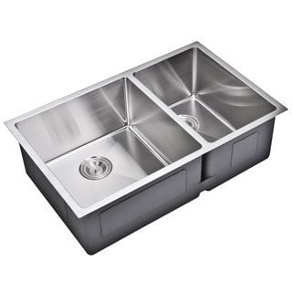 Teka Stainless Steel 33 Inch Top Mount Double Bowl Kitchen