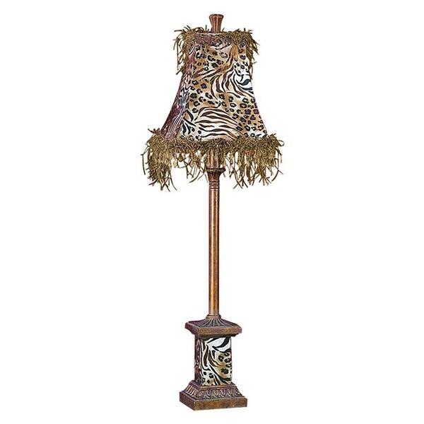 Animal Print Polystone And Metal Buffet Lamp 15899670