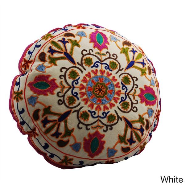 Medallion Design Round Floor Pillow India 15902801