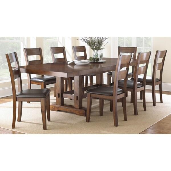 Tribecca Home Acton Warm Merlot X Back Casual Dining Side: Greyson Living Denver Dining Set