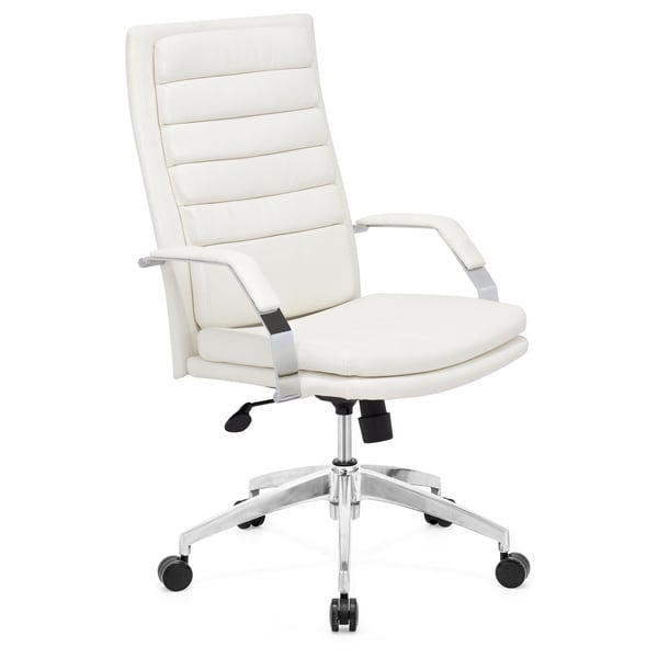 Overstock Office Furniture: Director Comfort White Office Chair