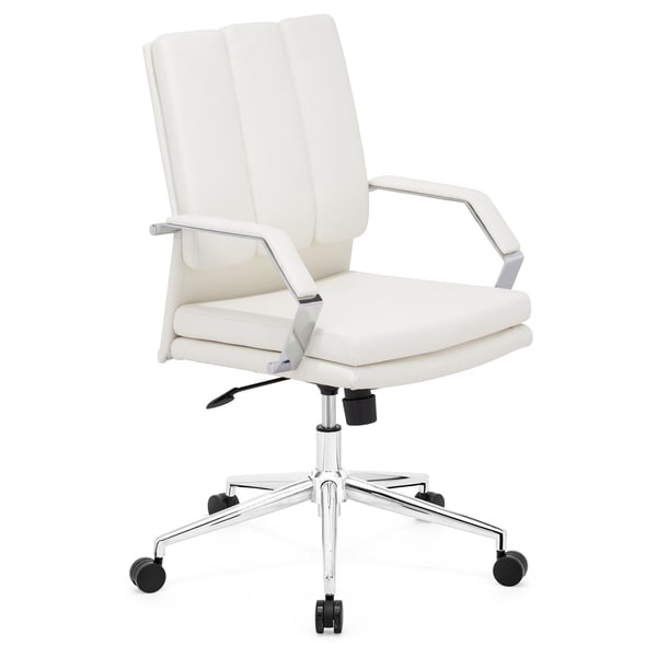 Overstock Office Furniture: Director Pro White Office Chair