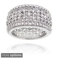 DB Designs Diamond Accent Wide Band Ring