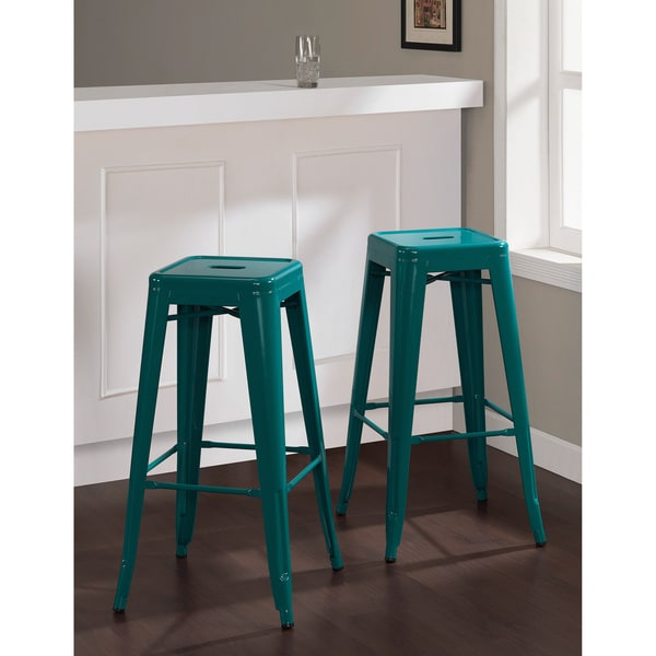 Tabouret 30 Inch Peacock Bar Stools Set Of 2