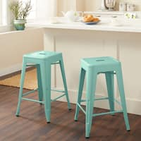Tabouret 24-inch Hint of Mint Counter Stools (Set of 2)