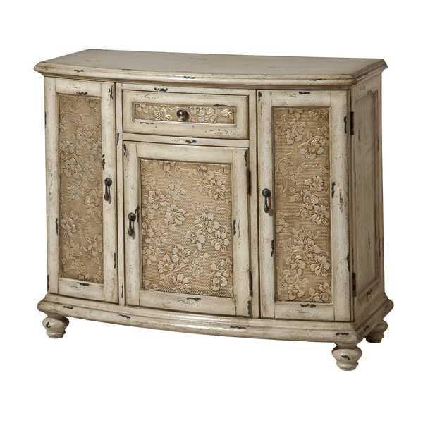 Black Coffee Table Sheffield: Sheffield 3-door Single-drawer Aged White Accent Chest