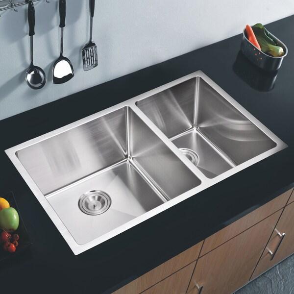 Water Creation 50/50 Double Bowl Undermount Kitchen Sink