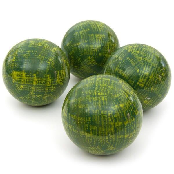 Black Decorative Balls For Bowls: Green 4-inch Porcelain Ball Set (China)