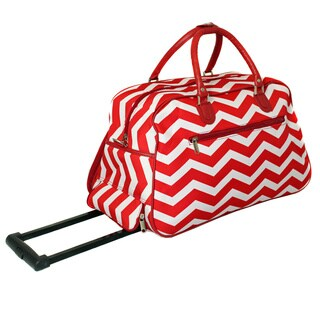 World Traveler Chevron 22-inch Carry-on Rolling Duffle Bag