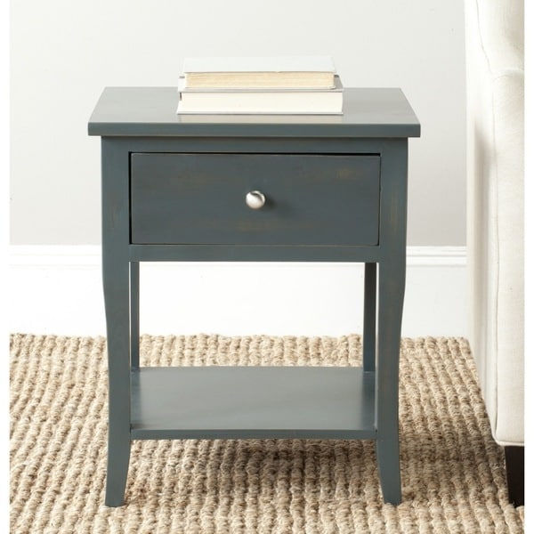 Safavieh Coby Dark Teal End Table 15932386 Overstock