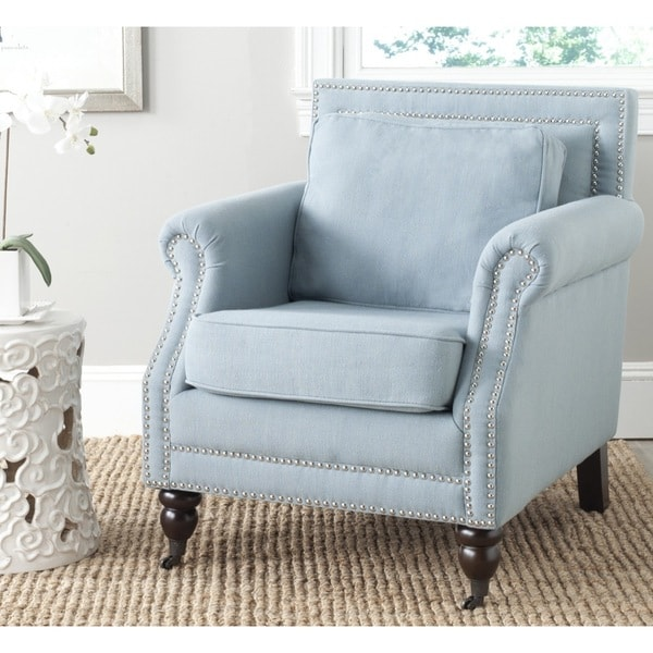 Safavieh Karsen Seaside Blue Club Chair 15932694