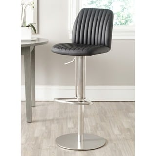 Dexter Brushed Stainless Steel Adjustable Height Swivel